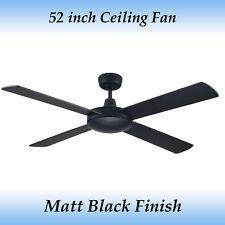 Fias Genesis 4 Blade 52 inch Matt Black Ceiling Fan