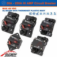 Hi Amp 30A - 250A Circuit Breaker Fuse 12V  DC IP67 Current SS Terminal Max 48V