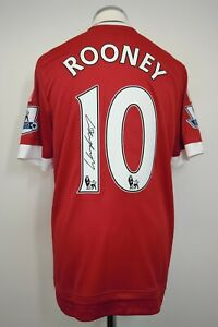 Manchester United SIGNED Player/Match Issue Shirt Size 7 ROONEY 10 2015/2016