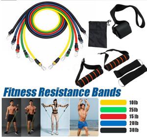 11Pcs Set Men Women Resistance Bands Workout Exercise Yoga Crossfit Fitness Tube