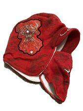 NWOT ED HARDY MENS USA EDITION EARFLAP SKI HAT/REMOVABLE FACEMASK