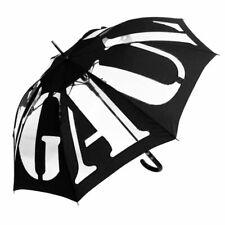 Jean Paul Gaultier Automatic Unisex Umbrellas Black Canopy PVC Gaultier Letters