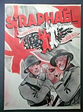 WW2 Soldiers drinking St Raphael Xmas original antique colour advert c. 1940