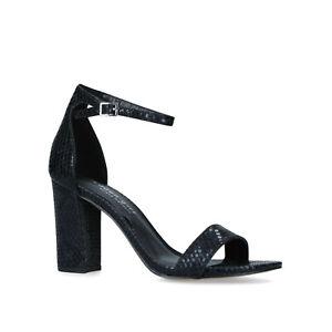 Steve Madden Girl Beella Black Heel Court Strappy Shoes Size UK 4 EU 37
