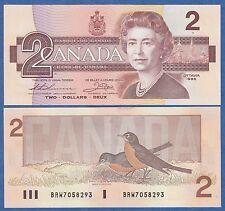 CANADA 2 Dollar P 94 b 1986 UNC Thiessen / Crow BC-55b Low Shipping Combine FREE