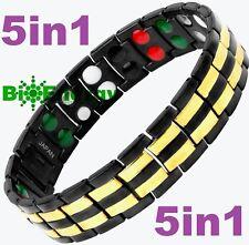 TITANIUM Magnetic Energy  Armband  Power Bracelet Health JADE 5in1 Bio GERMANIUM