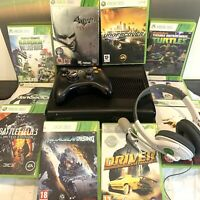 ⭐️ Xbox 360 Slim Console Bundle - Wireless Controller And 10 Games