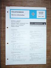 Service Manual für Telefunken Operette 301,ORIGINAL