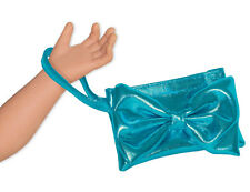 "SF Springfield TEAL WRISTLET CLUTCH for 18"" Dolls American Girl Purse Wallet NEW"