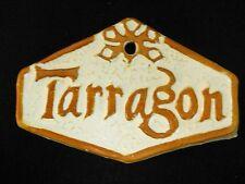New listing Tarragon Herb Garden Sign - Plant Marker Handmade Ceramic Stoneware Tile