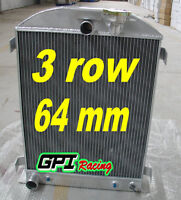 1932 32 FOR FORD CHOPPED FORD ENGINE AT 3 core aluminum radiator