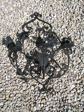 Estate Black Iron Wall Candle Holder Gothic Eames ooak Steampunk