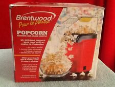 Brentwood Popcorn Maker Popper Pops Using Hot Air Great For Movies RED PC486