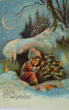 """ Noël, Enfants, Sapin de Noël, Étoiles "" 1900 (3350)"