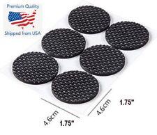 "12PCS Round 1"" 3/4 Self Adhesive Furniture Leg Non Slip Felt Pads  Mat Black"