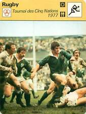 FICHE CARD: 5.2.77 Dublin Angleterre-Irlande 4-0 England-EIRE RUGBY à XV 1970s B
