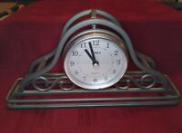 Wrought Iron Mantel Clock Timex Stetson Collectibles