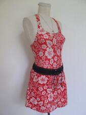 Vtg Catalina Beach Tank Top & Mini Board Skirt Set M S Red White Blue Tropical