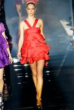 Gucci Silk Red Dress with Ruffles Spring/Summer 2007 Collection