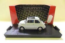 BRUMM 1:43 AUTO DIE CAST FIAT 500F CHIUSA 1965 GRIGIO MEDIO GREY  ART R455-11