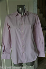 bonito camisa de rayas rosa mujer FAÇONNABLE talla 42 clásico NUEVO