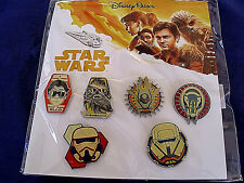 Disney * SOLO, A STAR WARS STORY * 6 Pin Booster Set - New in Package -Chewbacca