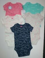 New Carter/'s Girls Just One You 3 Pack Bodysuits Unicorn Floral NB 6 12m 18m 24m