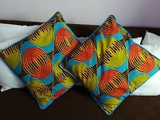 Home Decor Handmade Cotton Cushion Pillow Covers African Print Wax 55x55cm Gift
