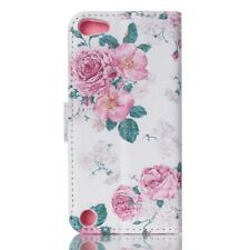 New For iPod Touch 5th / 6th Gen Magnetic Wallet Leather Flip Stand Case Cover