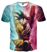 New Fashion Womens/Mens Anime Dragon Ball Z D Print Casual T-Shirt UBB423