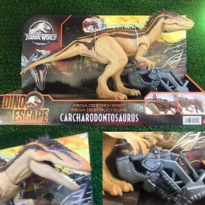 JURASSIC WORLD Dino Escape Mega Destroyers Carcharodontosaurus Mattel Toy