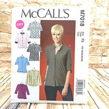 McCalls 7018 Womens Plus Size Loose Fitting Tops Tunic Sz 16 24 Uncut Pattern