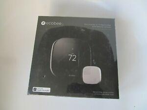 Sealed- Ecobee3- Works W/ AppleKit Smart Thermostat w/ Sensors -Blk EBSTATe3VP02