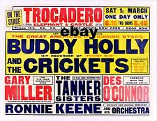"""Buddy Holly and the Crickets Trocadero 16"""" x 12"""" Photo Repro Concert Poster"""