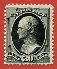 [sto136] 1879 Scott#190 mint original gum Lightly hinged 30c Black cv:$850