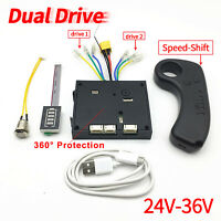 Dual Motors Vari-Speed Electric Skateboard Controller Longboard Scooter ESC Kit