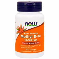 Now Foods, Methyl B-12, Extra Strength, 10,000 mcg X 60 Lozenges