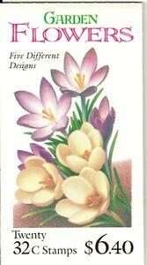 Scott BK234/3029a Garden Flowers MNH Free shipping in USA!