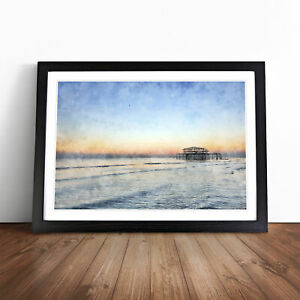 West Pier At Brighton Beach Vol.1 Painting Wall Art Framed Print Picture