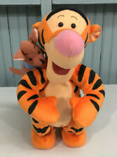 "Tigger 12"" Singing Plush Figure Piglet Winnie The Pooh SEE VIDEO"