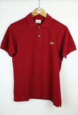 Mens LACOSTE Devanlay Polo Shirt Burgundy Red | XS Size 2