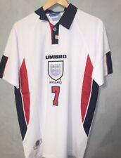 XL David Beckham Retro England World Cup Vintage Shirt
