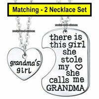 Grandma Daughter Niece Mum Sister Necklaces Silver Heart Xmas Gift For Her Women