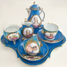 Sèvres cabaret coffee set for two, Royal mistress cameos 1815-1830