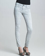 NWOT Current Elliott The Ankle Skinny Jean in Light Grey Antique Lace - Size 27