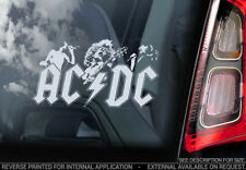 AC/DC - Car Window Sticker - Rock Sign AC DC Angus Young Back in Black ACDC -V01