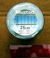 CLEAR Mustad THOR Premium 25# Test Fishing Line 490 yards Bass Saltwater Catfish