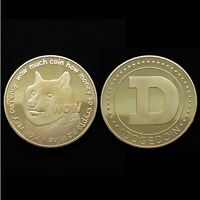 Physical Dogecoin Coin Doge Iron Gold-Plated Round Token Bitcoin Crypto