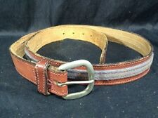 Vintage Levis Leather Denim Belt Style 1184-79 USA Size 36
