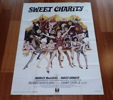 """ORIGINAL MOVIE POSTER """"SWEET CHARITY"""" 1969 FRENCH FOLDED LARGE"""